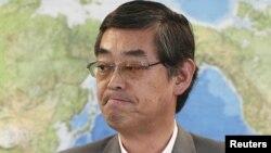 Phát ngôn viên Bộ Ngoại giao Nhật Bản Yutaka Yokoi mở họp báo sau khi việc ký kết hiệp định đình hoãn
