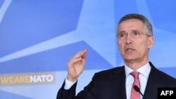 Sekrtè Jeneral l'OTAN an, Jens Stoltenberg. (Fioto: Madi 27 mas, 2018).