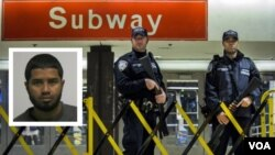 Nghi can Akayed Ullah (trái) trong vụ đánh bom ống ở New York.