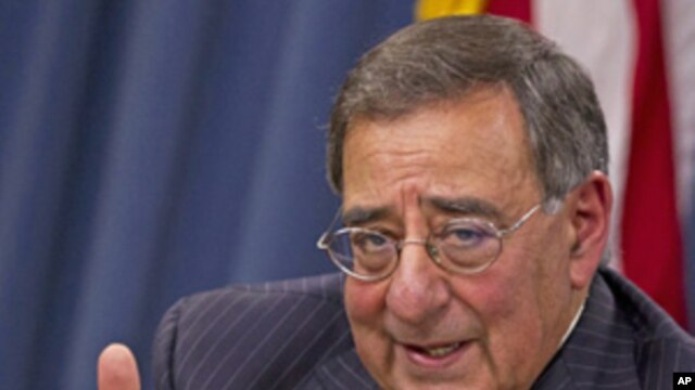 Defense Secretary Leon Panetta during a news conference at the Pentagon,  Nov. 10, 2011.