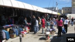 西伯利亞東部雅庫茨克市一家中國商販集中的市場
