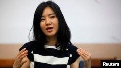 영문 자서전 '일곱 개의 이름을 가진 소녀: 어느 탈북자의 이야기'를 출간한 탈북자 이현서 씨. (자료사진)