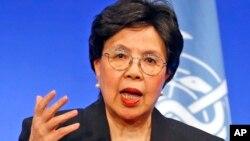 Direktur Jendral Badan Kesehatan Sedunia PBB (WHO), Margaret Chan memberikan keterangan kepada media (foto: dok).