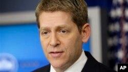 5일 미국 백악관에서 정례브리핑 중인 제이 카니 대변인.