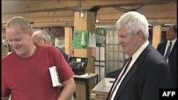 Repubikanski predsednički pretendent Njut Gingrič vodi kampanju u Ajovi