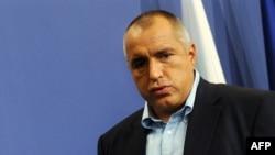 Le Premier ministre bulgare Boiko Borissov lors d'une conférence de presse après les élections parlementaires européenes à Sofia, le 7 juin 2009.
