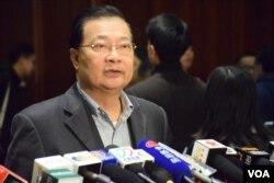 民建聯立法會議員譚耀宗。(美國之音湯惠芸攝)