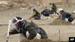 افغان ماین پاکان د ماین پاکولو پر وخت