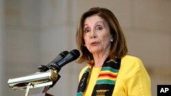 Nancy Pelosi, presidente de la Cámara de Representantes de Estados Unidos. 10 Septiembre, 2019.