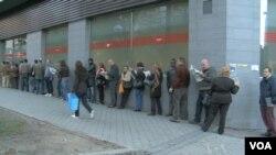 Des chômeurs en Espagne