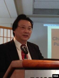 美国杜克大学中国研究中心主任刘康(美国之音钟辰芳拍摄)