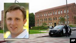 Foto insert: Profesor UCLA William Klug yang ditembak tewas oleh mahasiswanya, Mainak Sarkar (foto: ilustrasi).