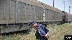 Военный эшелон, с которого похитили боеприпасы. Джурджа. Румыния. 17 июля 2011 года