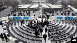 Dress rehearsal for military participation in the 57th presidential inauguration, western steps of the U.S. Capitol, Washington, Jan. 13, 2013.