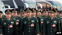 中國軍方人大代表(資料圖片)