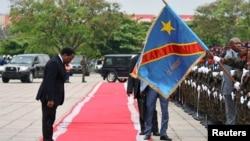 Le président de la RDC Joseph Kabila, lors de son discours à la nation, à Kinshasa, le 5 avril 2017.