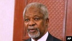 Kofi Annan, ayoboye Inararibonye zo kw'isi, akaba yigeze kuba umunyamabanga mukuru w'ishirahamwe O-N-U