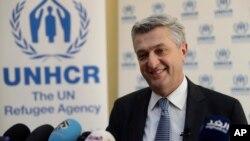 گفتوگوی فیلیپو گراندی رئیس آژانس پناهندگان سازمان ملل متحد با خبرنگاران در بیروت پایتخت لبنان - ۱۵ بهمن ۱۳۹۵