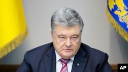 Президент Украины Петр Порошенко на заседании СНБ. Архивное фото.