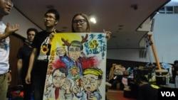 國立台灣師範大學台灣史研究所碩士三年級學生卓姿均表示,去年香港雨傘運動期間,她在台灣發起聲援行動。(美國之音湯惠芸)
