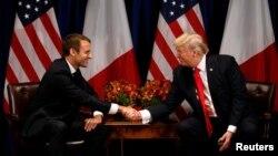 Президент США Дональд Трамп и президент Франции Эммануэль Макрон (архивное фото)