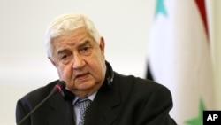 El canciller sirio, Walid al-Moallem, criticó al enviado de la ONU por decir que habrá elecciones en Siria dentro de 18 meses.
