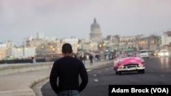 El Malecon, Havana's famous seaside boulevard, is a popular gathering place.