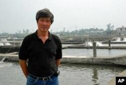 戴昆财位于台湾最南部屏东县仿寮乡的水产养殖场占地11公顷