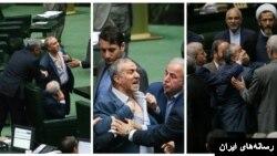 بنا بر گزارشها، آقای آقایی در هنگام نطق محمدعلی پورمختار، نماینده بهار و کبودرآهنگ یقه پیراهنش را پاره کرد.