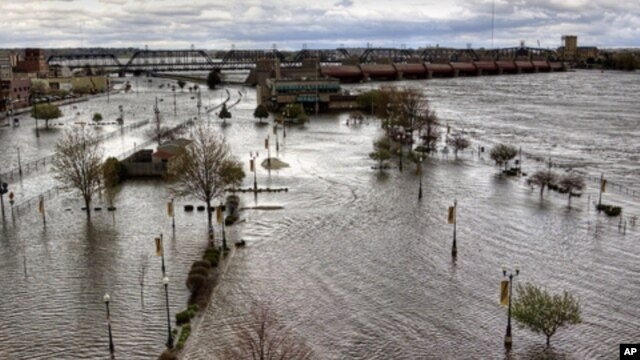 Davenport this spring, in an image that's not at all unusual for this flood-prone town.