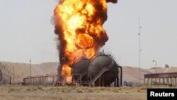 Naftna stanica Bai Hasan posle današnjeg napada