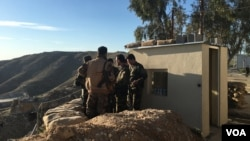Tentara Peshmerga Kurdi di wilayah Makhmour, Irak (Foto: dok).