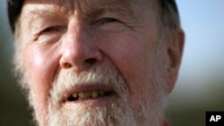 FILE - Pete Seeger talks during an interview in Beacon, N.Y., May 2006. The FBI released more than 1,700 pages of documents about Seeger after the folk singer died at age 94, in January 2014.