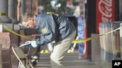 美国联邦调查局人员在吉福兹被枪击现场