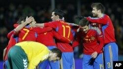 Tim matador Spanyol, juara Piala Eropa 2008 dan juara Piala Dunia 2010, menjadi favorit kuat untuk menjuarai Piala Eropa tahun ini (foto: dok).