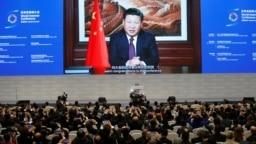 资料照:中国国家主席习近平在浙江乌镇举行的第三届世界互联网大会开幕式上讲话。(2016年11月16日)
