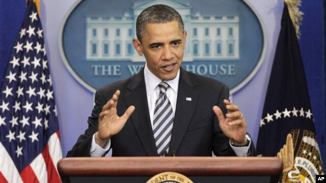 President Obama gestures while speaking to reporters about the controversy over his birth certificate, Wednesday, April 27, 2011, at the White House in Washington.