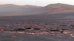 A view, by NASA's Mars rover Opportunity, from the western rim of the Endeavour Crater