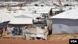 Près de 30,000 citoyens Nuer dans un camp de l'ONU à Juba, Soudan du Sud, 15 avril 2016. (VOA/J. Patinkin)