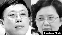 广州日报前社长戴玉庆举报纪委女书记王晓玲(右)涉嫌贪腐打击报复 (合成照片)