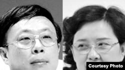 广州日报前社长戴玉庆举报前纪委书记王晓玲(右)涉嫌贪腐打击报复 (合成照片)