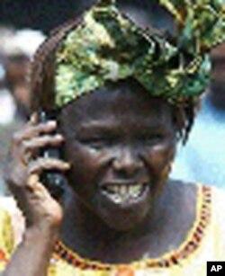 Mshindi wa Nobel Wangari Maathai.