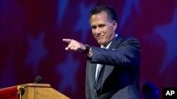 29일 미국 인디애나폴리스에서 연설하는 미트 롬니 미 공화당 대통령 후보.
