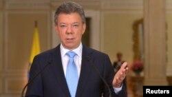 El presidente colombiano Juan Manuel Santos anunció que presentaría su candidatura oficial a la reelección el lunes 25 de noviembre.