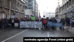 Protest protiv izgradnje mini hidroelektrana održan je u Beogradu, Foto: Video grab