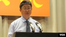 台湾行政院发言人 胡幼伟(美国之音张永泰拍摄)