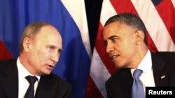 美国总统奥巴马会见俄罗斯总统普京