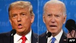 Ảnh phối hợp Tổng thống Donald Trump và ứng cử viên Tổng thống của Đảng Dân chủ, cựu Phó Tổng thống Joe Biden.