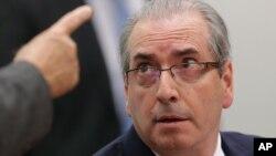 Nghị sĩ Eduardo Cunha bị cáo buộc đã dối trá về việc có tài khoản ngân hàng bí mật ở Thụy Sĩ.
