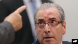 Le président suspendu du parlment Eduardo Cunha Brésil au Parlement à Brasilia, au Brésil, le 19 mai 2016.